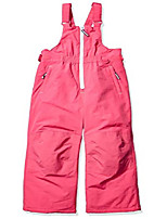 cheap -girls' big water-resistant snow bib, raspberry pink, x-large