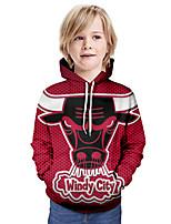 cheap -Kids Boys' Basic Graphic Animal Long Sleeve Hoodie & Sweatshirt Wine