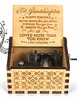 cheap -kafete music box hand crank engraved musical box-u r my sunshine mechanism antique vintage personalizable gift to my granddaughter from grandma