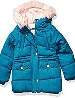 cheap -girls' toddler heavyweight winter jacket coat, teal, 3t