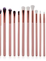 cheap -wakeu 12pcs eyeshadow brush eyebrow cosmetic makeup brush kits (pink)
