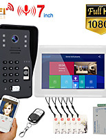 cheap -MOUNTAINONE SY703WMJLP11 7 inch Wifi Wireless Video Door Phone Doorbell Intercom System With Wired Fingerprint RFID AHD 1080P Door Access Control System Support Remote APP Unlocking Recording Snapshot