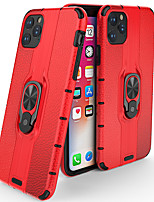 cheap -Case For Apple iPhone 11 / iPhone 11 Pro / iPhone 11 Pro Max Shockproof / Ring Holder Back Cover Solid Colored / Armor Acrylic