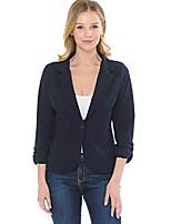 cheap -women's 3/4 sleeve lightweight casual work knit blazer jacket navy s