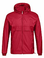 cheap -waterproof rain jacket packable outdoor hooded raincoat poncho breathable rainjacket for men unisex red