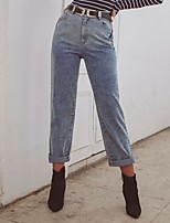 cheap -Women's Basic Daily Jeans Pants Solid Colored Breathable Blue XS S M