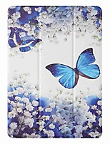 cheap -Case For Apple iPad 5 (2017) 9.7'' iPad 6 (2018) 9.7'' iPad 7 (2019) 10.2'' with Stand Flip Pattern Full Body Cases Blue Butterfly PU Leather TPU for iPad 8 (2020) 10.2'' iPad Pro (2020) 11''