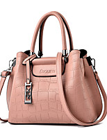 cheap -Women's Bags PU Leather Top Handle Bag Zipper for Daily / Date Wine / White / Black / Blushing Pink