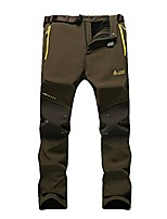 cheap -men's outdoor thick warm soft shell fleece snow pants windproof breathable climbing pants hiking trousers