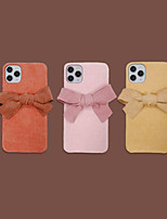 cheap -Case For iPhone 11 Pattern Back Cover Solid Colored Textile Case For iPhone 11 Pro Max / SE2020 / XS Max / XR XS 7 / 8 7 / 8 plus