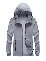 cheap -Men's Hiking Jacket Summer Outdoor Thermal Warm Windproof Sunscreen Breathable Top Camping / Hiking Fishing Running Fuchsia / Pink / Grey / Quick Dry / Quick Dry / Ultraviolet Resistant
