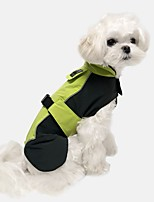 cheap -Dog Jacket Color Block Casual / Sporty Illuminated Casual / Daily Outdoor Winter Dog Clothes Breathable Blue Orange Green Costume Jeans S M L XL XXL XXXL