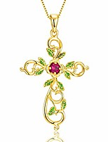 cheap -life tree necklace rose flower pendant necklace red enamel 14k gold plated pendant necklace jewelry for women girlfriend wife mom