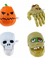 cheap -Halloween Party Toys Wind-up Toy Trick or Treat 4 pcs Skull Skeleton Ghost Pumpkin Party Favors ABS Kid's Adults Trick or Treat Halloween Party Favors Supplies