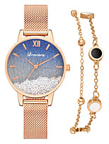 cheap -Women's Quartz Watches Quartz Stylish Luxury Casual Watch Analog Golden / Brown White Blue