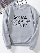 cheap -Women's Daily Pullover Sweatshirt Letter Casual Basic Hoodies Sweatshirts  Black Yellow Gray