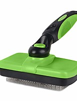 cheap -pet grooming brush self cleaning slicker brushes for dogs and cats long & thick hair best pet shedding tool for grooming loose undercoat,tangled knots & matted fur - green/black