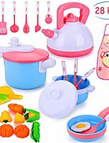 cheap -28 pcs kitchen cooking set, kitchen cooking set cookware utensils kitchen food playset accessories for toddlers girls boy tea playset toy for kids pretend play food set