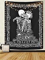 cheap -skull tapestry the kissing lovers tapestry black tarot tapestry human skeleton tapestry for room