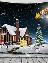 cheap -Christmas Santa Claus Holiday Party Wall Tapestry Art Decor Blanket Curtain Picnic Tablecloth Hanging Home Bedroom Living Room Dorm Decoration House Snow Elk Polyester