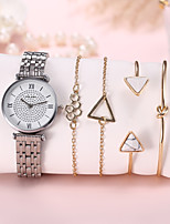 cheap -Women's Quartz Watches Quartz Modern Style Stylish Classic Chronograph Analog Rose Gold Silver / Stainless Steel / Imitation Diamond
