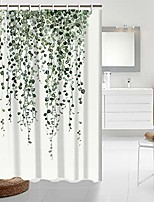 cheap -shower curtain green eucalyptus leaves bathroom curtain watercolor plants floral shower curtain waterproof bathroom decor fabric shower curtain set with hooks