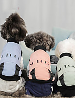 cheap -Dog Jacket Vest Color Block Casual / Sporty Fashion Casual / Daily Winter Dog Clothes Breathable Blue Pink Green Costume Polyster S M L XL XXL