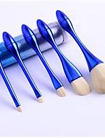 cheap -5 Pcs Mini Small Waist Makeup Brush Set Soft Loose Powder Brush Blue Black