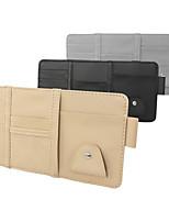 cheap -Car Sun Visor Organizer Auto Interior Accessories Pocket Organizer Registration and Document Holder Personal Belonging Storage Pouch Organizer Interior Accessories Pocket Organizer