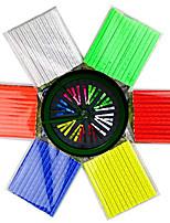 cheap -1 sets/12pcs bicycle wheel spoke reflector reflective mount clip tube warning strip