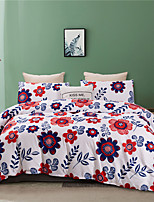 cheap -Colorful Floral Print 3 Pieces Bedding Set Duvet Cover Set Modern Comforter Cover-3 Pieces-Ultra Soft Hypoallergenic Microfiber Include 1 Duvet Cover and 1 or2 Pillowcases