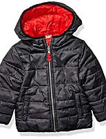 cheap -boys' toddler reversible bubble jacket, red/black camo, 4t