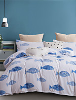 cheap -Blue Fish Print 3 Pieces Bedding Set Duvet Cover Set Modern Comforter Cover-3 Pieces-Ultra Soft Hypoallergenic Microfiber Include 1 Duvet Cover and 1 or2 Pillowcases