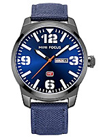 cheap -chronograph quartz watch men's stainless steel milanese mesh band waterproof sports business blue watches (blue)