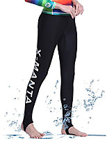 cheap -womens upf 50+ surfing skins leggings 1.5mm neoprene wetsuit diving snorkelin pants (black-purple, xx-large)