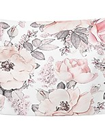 cheap -tapestry pink flowers and leaves on watercolor floral pattern rose home decor wall hanging for living room bedroom dorm 60x80 inches
