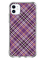 cheap -Grid / Plaid Case For Apple iPhone 12 iPhone 12 Mini iPhone 12 Pro Max Unique Design Shockproof Back Cover TPU