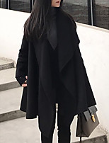 cheap -Women's Cloak / Capes Long Solid Colored Daily Black Red Gray S M L