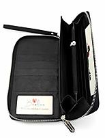 cheap -brelox travel wallet family passport holder - rfid document organizer for 4 5 6 passports - genuine leather - black