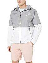 cheap -men's color block windbreaker jacket, vapor grey, xxl