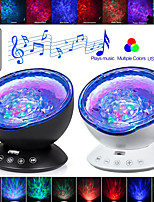cheap -LITBest AS124E3 Coquimbo Ocean Wave Projector LED Night Light Built In Music Player Remote Control 7 Light Cosmos Star Luminaria For kid Bedroom