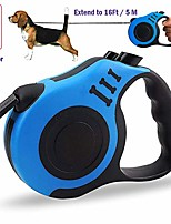 cheap -retractable dog leash[$12.95→$8.99] upgraded 360° tangle free for medium and small dogs or cats,16ft (5m) strong and durable nylon woven rope, one-handed brake and anti-slip handle