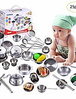 cheap -per play house toys set super stainless steel kitchen toy sets children's play house toys for boys and girls