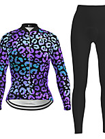 cheap -Women's Long Sleeve Cycling Jersey with Tights Purple Novelty Bike Breathable Quick Dry Moisture Wicking Sports Novelty Mountain Bike MTB Road Bike Cycling Clothing Apparel / Micro-elastic