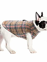 cheap -dog jackets for winter windproof waterproof dog coat for cold weather british style plaid warm dog vest for small medium large dogs brown 3xl