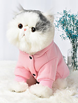 cheap -Dog Cat Coat Hoodie Character Casual / Sporty Fashion Casual / Daily Winter Dog Clothes Breathable Yellow Blue Pink Costume Cotton S M L XL XXL