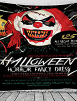 cheap -Halloween Wall Tapestry Art Decor Blanket Curtain Picnic Tablecloth Hanging Home Bedroom Living Room Dorm Decoration Psychedelic Clown Pumpkin Haunted Scary Polyester