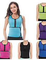 cheap -Waist Trainer Vest Body Shaper Sweat Waist Trainer Corset Sports Neoprene Yoga Gym Workout Pilates Durable Weight Loss Tummy Fat Burner Hot Sweat For Women