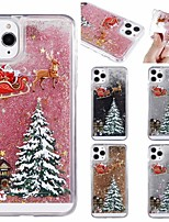 cheap -Christmas Tree Flowing Liquid Pattern Case For Apple iPhone 12 11 Pro Max 8 Plus 7 Plus 6 Plus Max Back Cover