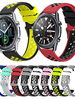 cheap -Silicone Sport Strap Breathable Holes Rubber Replacement Band for Galaxy Watch 3 41 45mm 42mm 46mm Gear S3 S2 Classic Galaxy Active 2/3